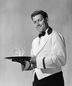 1950s smiling waiter