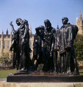 Auguste Rodin Burghers of Calais 1889 courtesy Mary Evans Picture Library/BILL COWARD