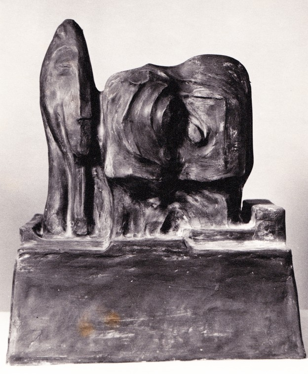 Three Heads on a Plinth 1962 Plaster