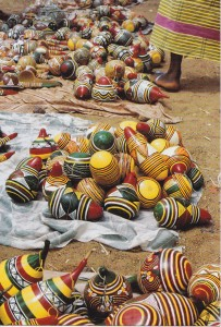 Decorated gourds, Mali