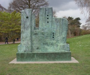 Henry Moore The Wall 1977 Bronze