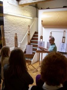 Drawing Master Class in the Barn at Corsham 2013