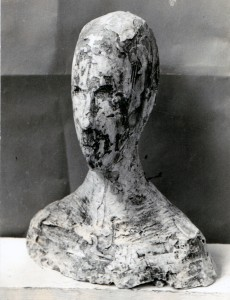 Head 1956 Plaster Lost remnant