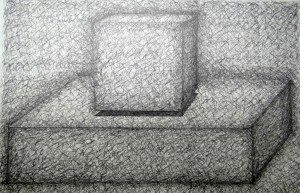 Two Boxes 2014 Pencil